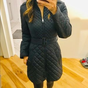 100% authentic Burberry Quilted navy blue coat